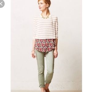 Anthropologie striped & floral pullover